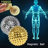 9pcsset magnetic hand palm acupuncture ball pain relief massager acupuncture acupressure health care