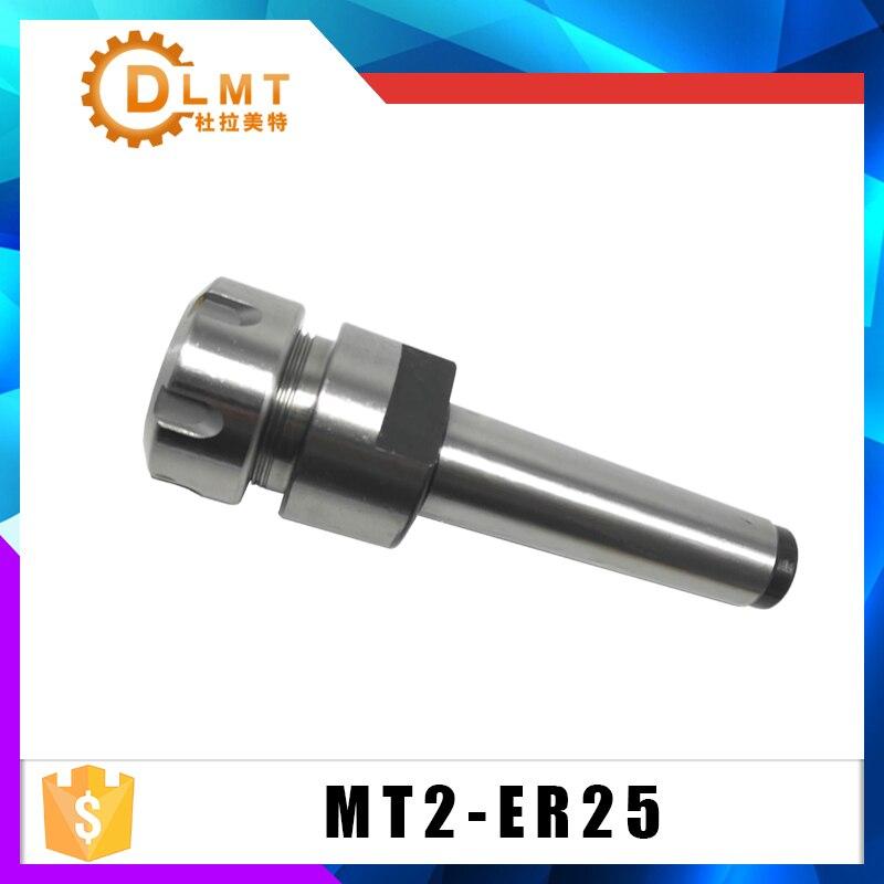 Mandril de fresado CNC ER25 MT2 M10 Portabrocas de mandril adaptador de fresa para herramientas de fresado CNC