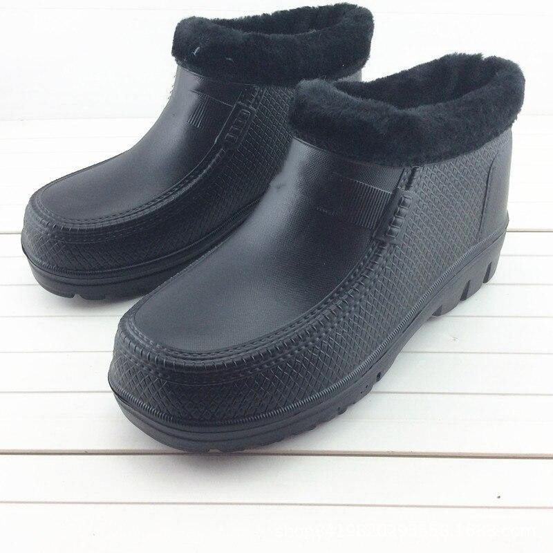 Waterproof Shoes Thick Man Non-slip Lightweight Woman Integrated Garden Kitchen Warm Foam Rain Boots