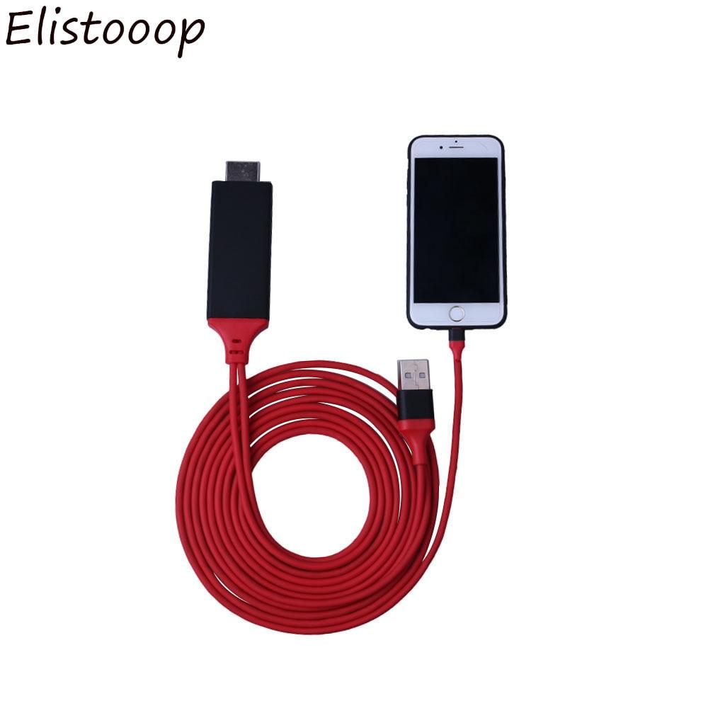 Adaptador 1080P HDTV TV Digital Cable AV Cable de 8 pines a HDMI USB HDMI Smart Cable Convertidor para Apple TV iPhone 8 para iPad Ai