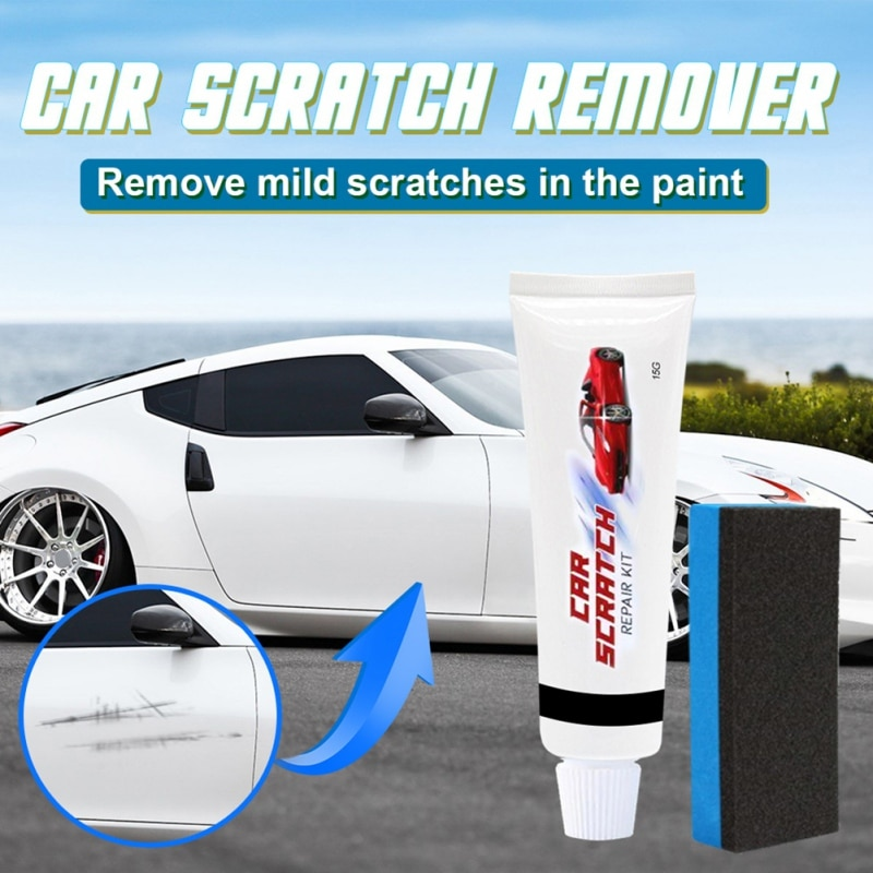 Automobiles Scratch Repair Paste And Sponge Professional And Practical Car Scratch Remover Car Wash And Maintenance Tool