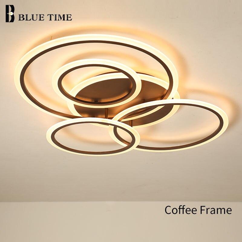 Современные светодиодные люстры, Декор для дома, комнатная лампа для гостиной, спальни, столовой, Потолочная люстра, освещение для кофе, бел...