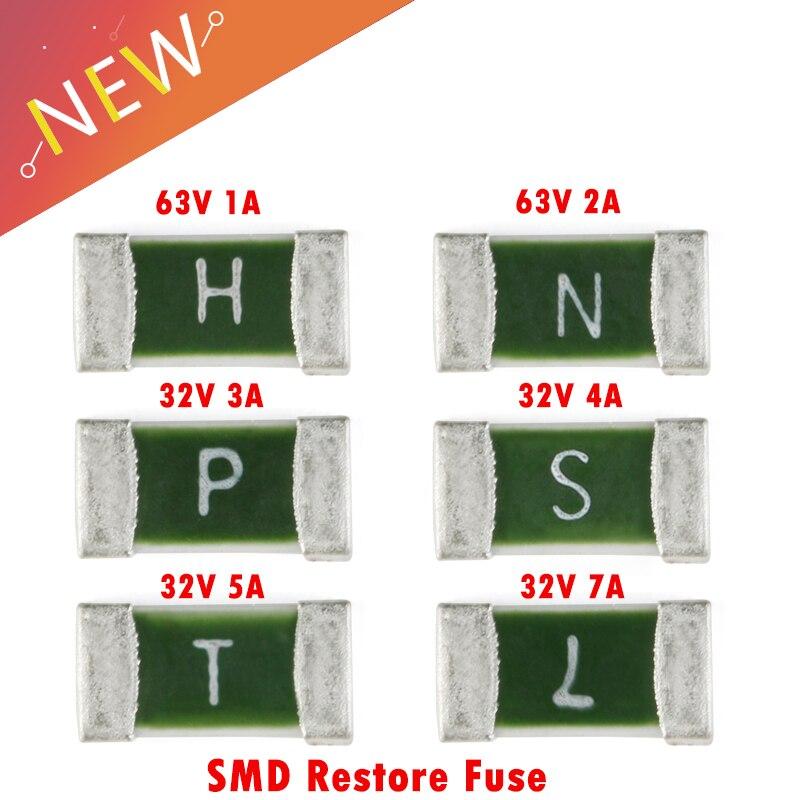 50 unids/lote un tiempo positivo de desconexión SMD restaurar fusible 1206 1A 2A 3A 4A 5A 7A