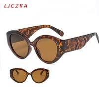 leopard oval sunglasses for women men vintage sexy cat eye sun glasses ladies outdoor eyeglasses uv400 lunette de soleil femme