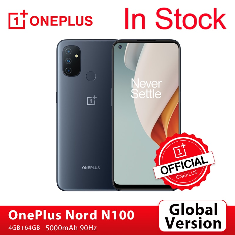 Global Version OnePlus Nord N100 Smartphoes 4GB 64GB Snapdragon 460 90Hz 6.52'' Display 13MP Triple Cams OnePlus Official Store