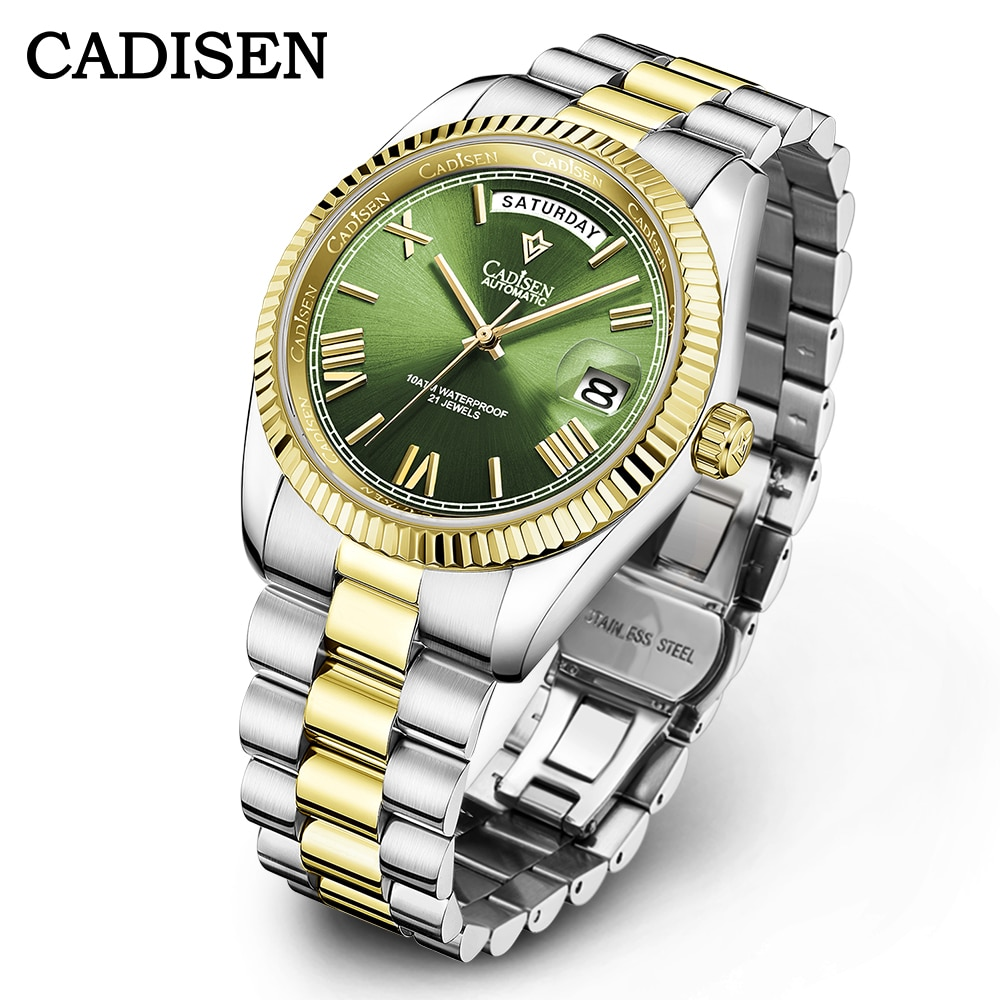 CADISEN Brand Mens Watches Top Brand Luxury Mechanical Watch Men Waterproof Casual...