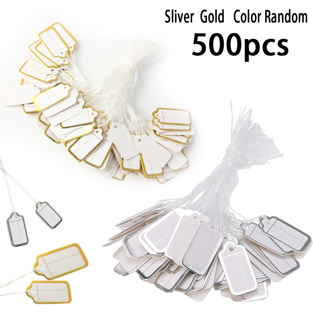 500 Etiquetas De Preços de Papel pçs/set Rótulo Cabeça Roupas Jóias DIY Em Branco Preço Pendure Tag do Presente Do Cartão