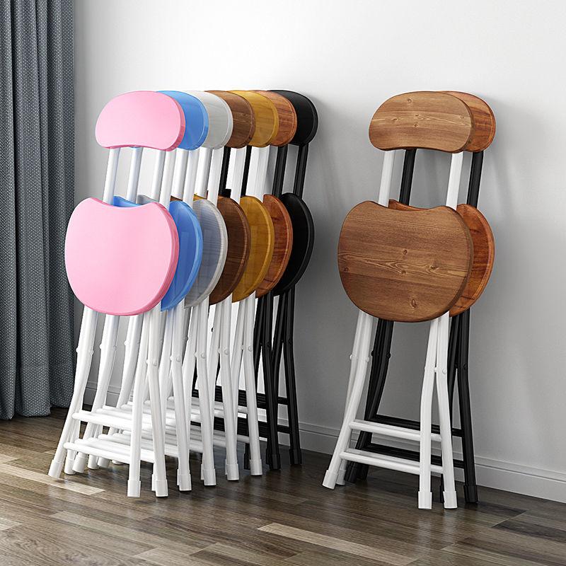 كراسي غرفة الطعام القابلة للطي الكراسي المنزلية للمطبخ البساطة الحديثة الشمال رواية تصميم البراز طالب المحمولة البراز
