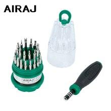 AIRAJ 31-en-1 jeu de tournevis multi-fonction outil à main Kit de réparation téléphone portable tablette montre appareil ménager tournevis de précision