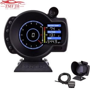 New Universal 10000RPM Car Gauge Sinco Tech Speed Oil Pressure Exhaust Temperature Screen Display Gauge W/ Sensor LCD Gauge