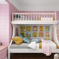 3d wall stickers self adhesive cartoon animal soft package anti collision tatami bed headboards childrens room cute decor