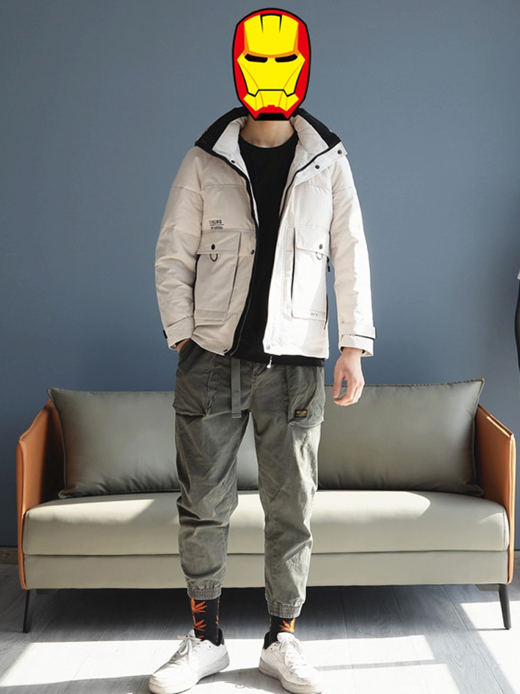 2021 Men's Windbreaker Coat & Jacket Duck Down Clothing Waterproof Male Winter Outerwear Clothing Hooded Plus Oversized XXXXXL