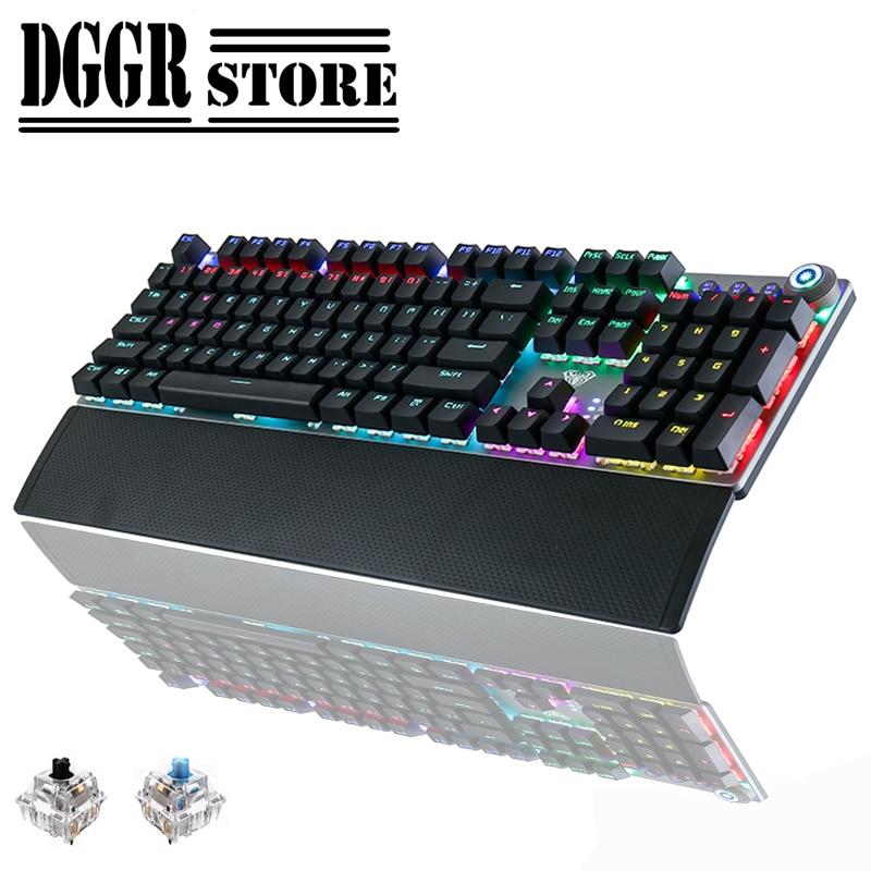 2020 novo teclado mecânico de jogos 104 teclas anti-fantasma profissão driver teclados para computador jogo gamer jogo