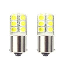 Plus récent 10 pièces grande promotion gel de silice ba15s 1156 frein à led Parking queue de secours clignotant lumière P21W Auto voiture ampoule