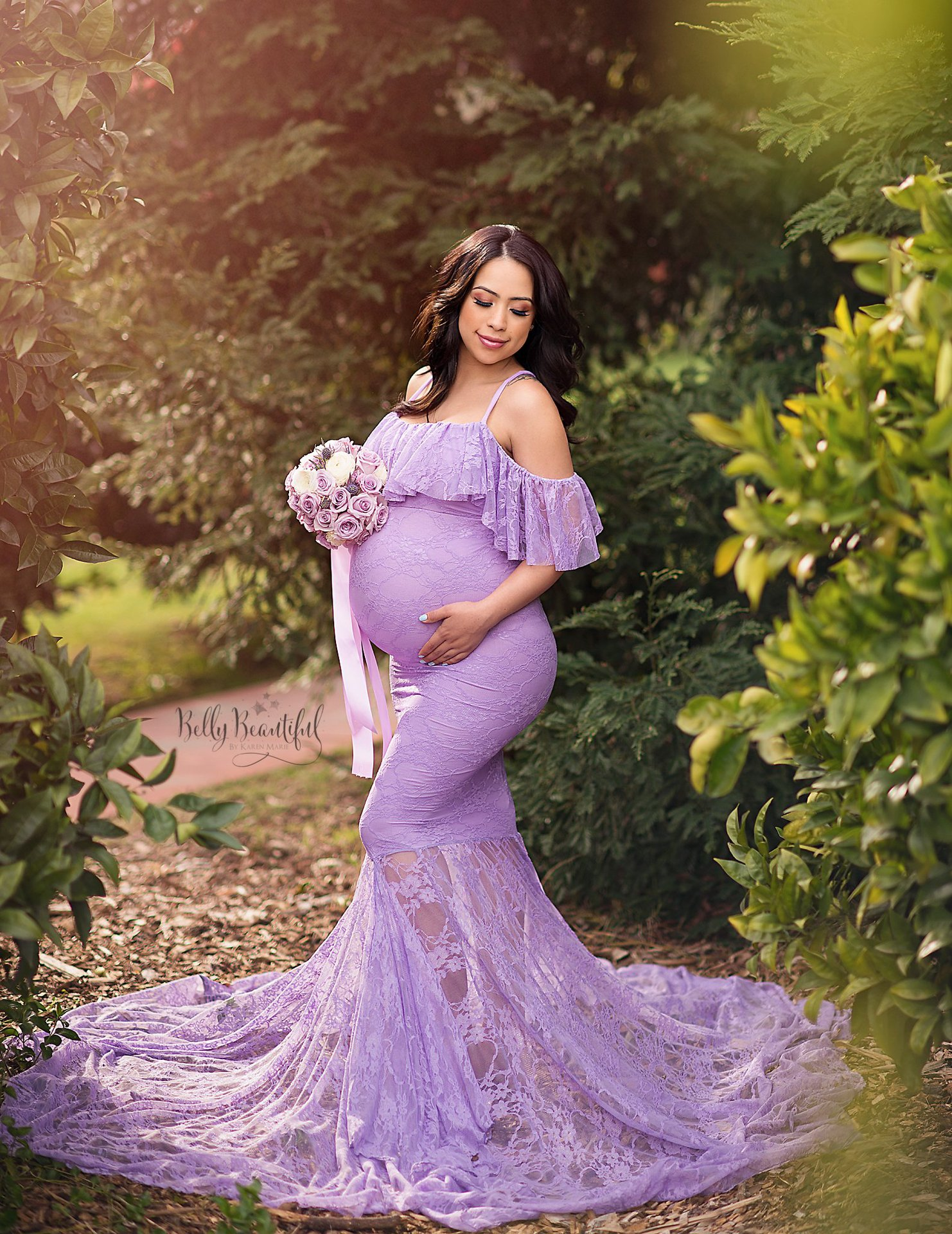 Lace Maternity Photography Props Pregnancy Dress Photography Maternity Dress for Photo Shoot Pregnant Dress Lace Maxi Gown S-XL enlarge