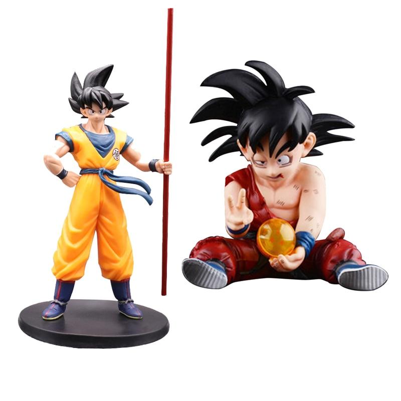 Sohn Goku ActionZ Spielzeug Für Kinder Anime Figurine Abbildung Pvc Modell Brinquedos Schwarz Haar Goku Abbildung 10-27 cm puppe