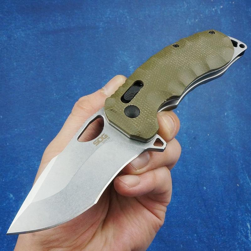 D2 شفرة فولاذية SOG في الهواء الطلق السكاكين أدوات تكتيكية لحفظ الحياة فائدة سكين للفرد الصيد التخييم جيب EDC أدوات Micarta مقبض
