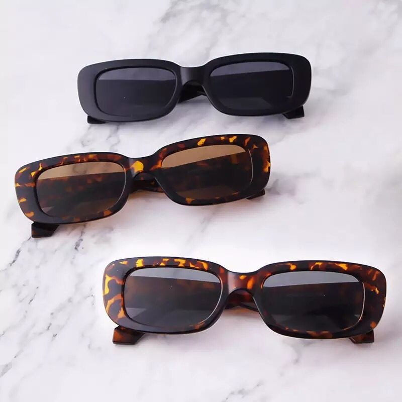 2021 summer fashion cat eye Square retro Sunglasses Women/Men's Vintage luxury Brand Designer UV400
