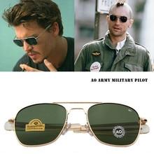 Fashion Classical Aviation Sunglasses Men AO Sun Glasses For Male American Army Military Optical Gla