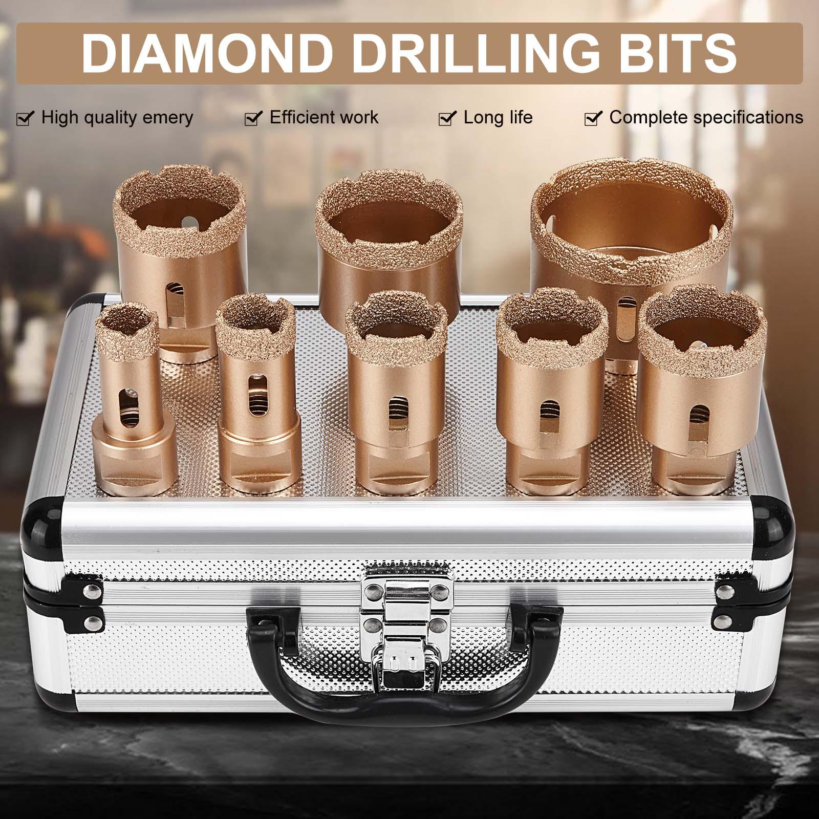 20-68mm Hole Saw Tile Drill Bits Diamond Drilling Core Bit Tiles Glass Granite Hole Saw Ceramic Porcelain Marble Drilling Bits