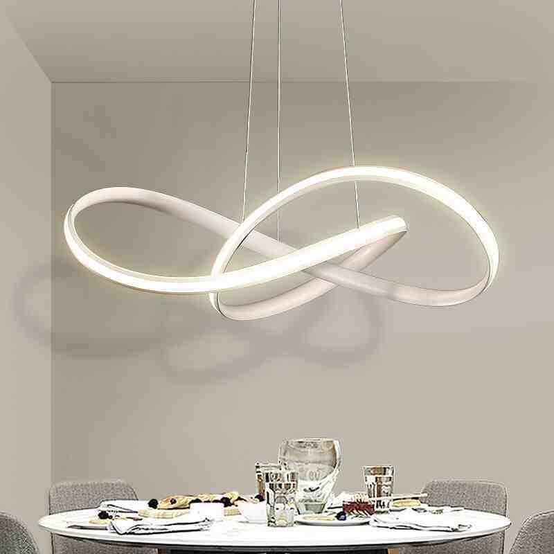 Nordic pingente lâmpada personalidade sala de estar luminária para casa iluminação interior preto/branco/marrom stepless escurecimento led chip