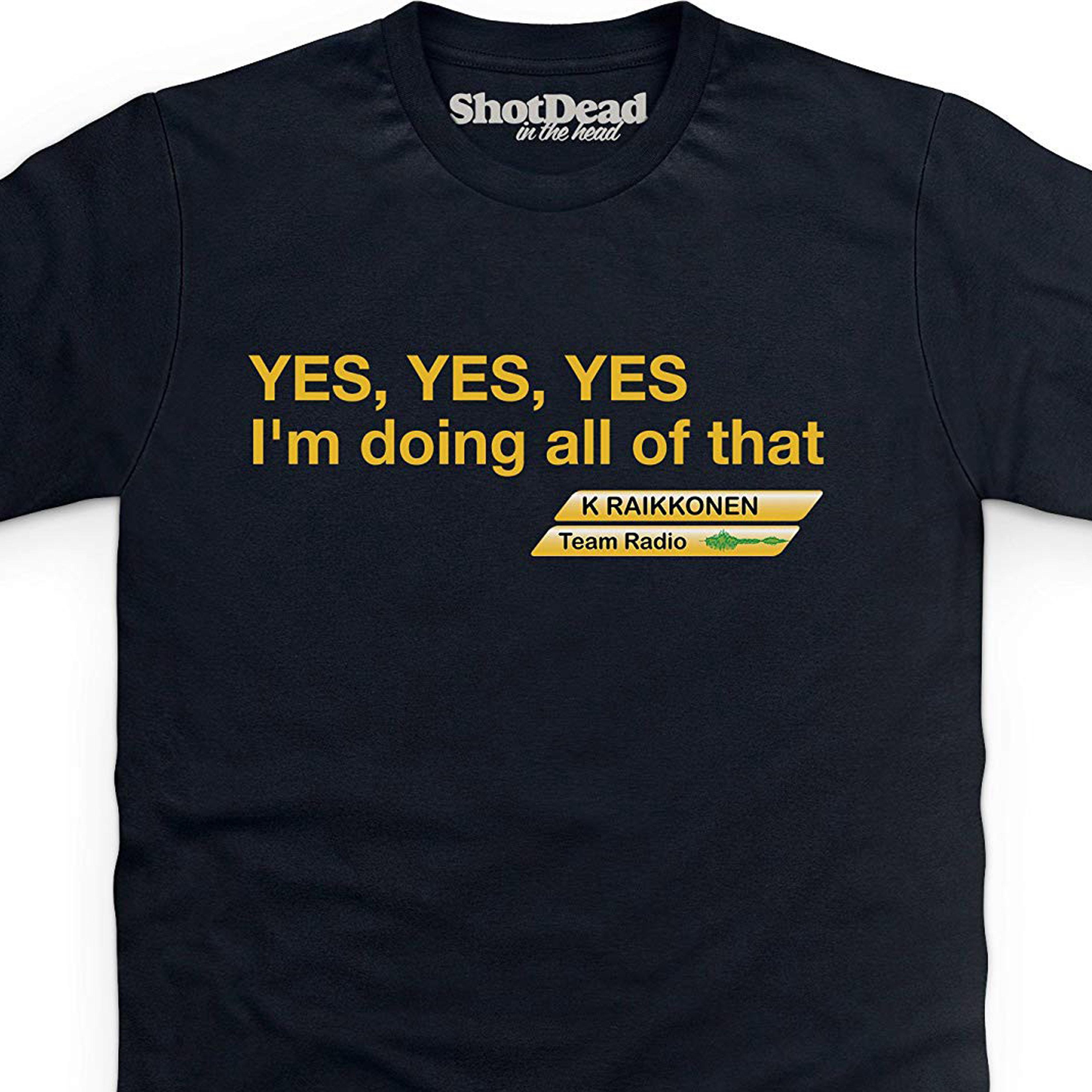 Shotdeadinthehead Kimi Raikkonen Sí Camiseta 100% algodón estampado hombres verano O cuello