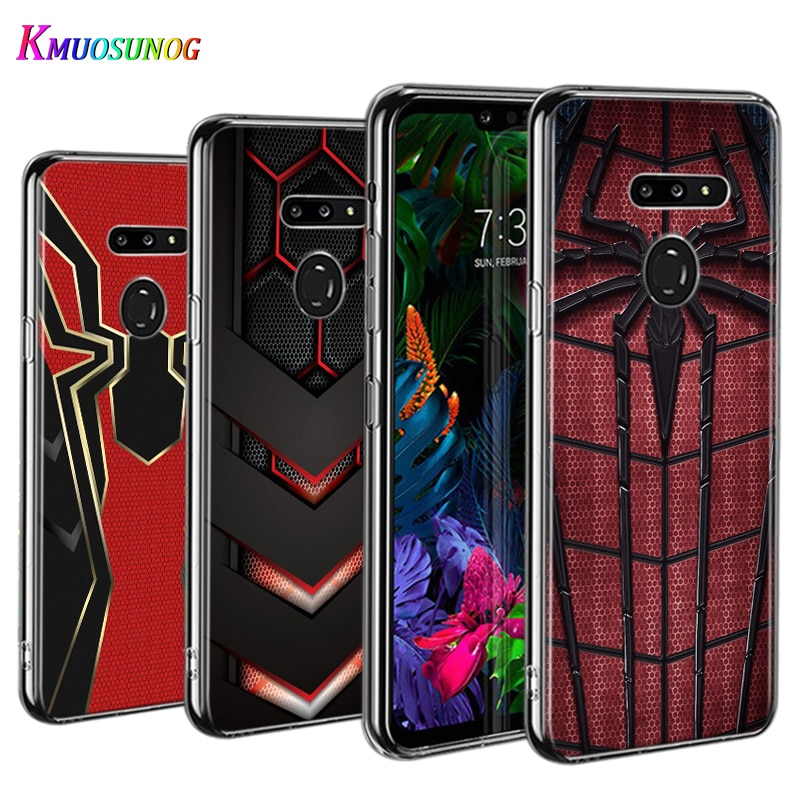 Marvel, Iron man, funda de teléfono delgado para LG W30 W10 V50S V50 V40 V30 K50S K40S K30 K20 Q60 Q8 Q7 Q6 G8 G7 G6