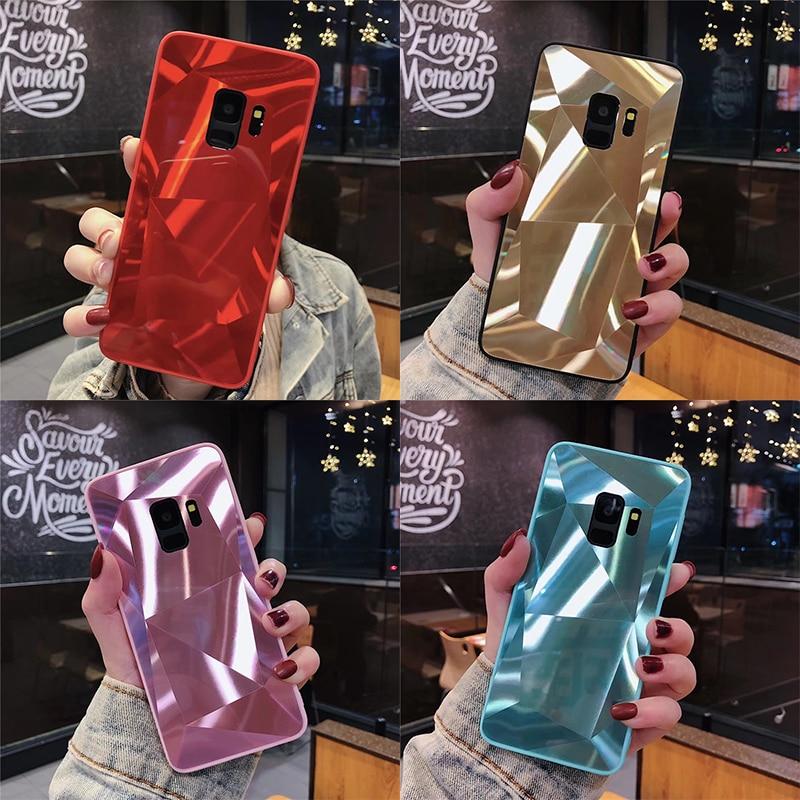 De Lujo 3D de brillo diamante espejo de caramelos para Samsung Galaxy A70 A50 A30 A20 A10 A9 A7 2018 S10e S10 Lite S10 S9 S8 caso Plus