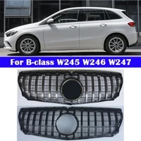for mercedes benz b class w245 w246 w247 b180 b200 b260 2009 2020 abs front center grill gt vertical bar car middle grille