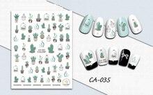 3D Mode Aufkleber für Nägel Kaktus Aloe Vase Nägel Kunst Dekoration Maniküre Aufkleber Decals Slider Nagel Folie Tipps Zubehör Aufkleber und Abziehbilder    -