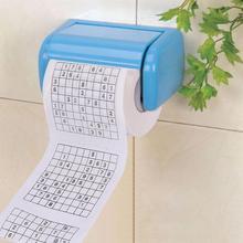 Chaude 1 rouleau 2 plis nouveauté drôle numéro Sudoku imprimé WC bain drôle doux papier toilette tissu salle de bain fournitures cadeau