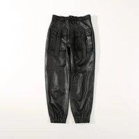 2020 women new fashion genuine real sheep leather pants c24