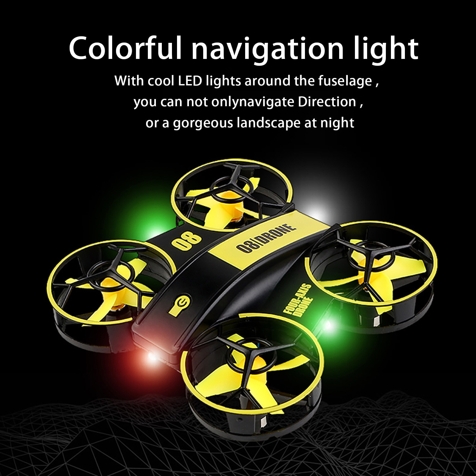 Rh821 Rc Mini Drone 2.4g 6 Axis Altitude Hold Headless Mode Rc Quadcopter Remote Control Airplane Gi