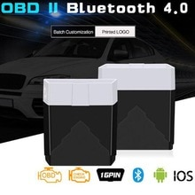 Мини OBD2 ELM327 диагностический инструмент Bluetooth 4,0 сканирующий Инструмент лучше, чем Elm 327 V1.5 Диагностика автомобиля Odb2 Obd2 сканер работает на IOS