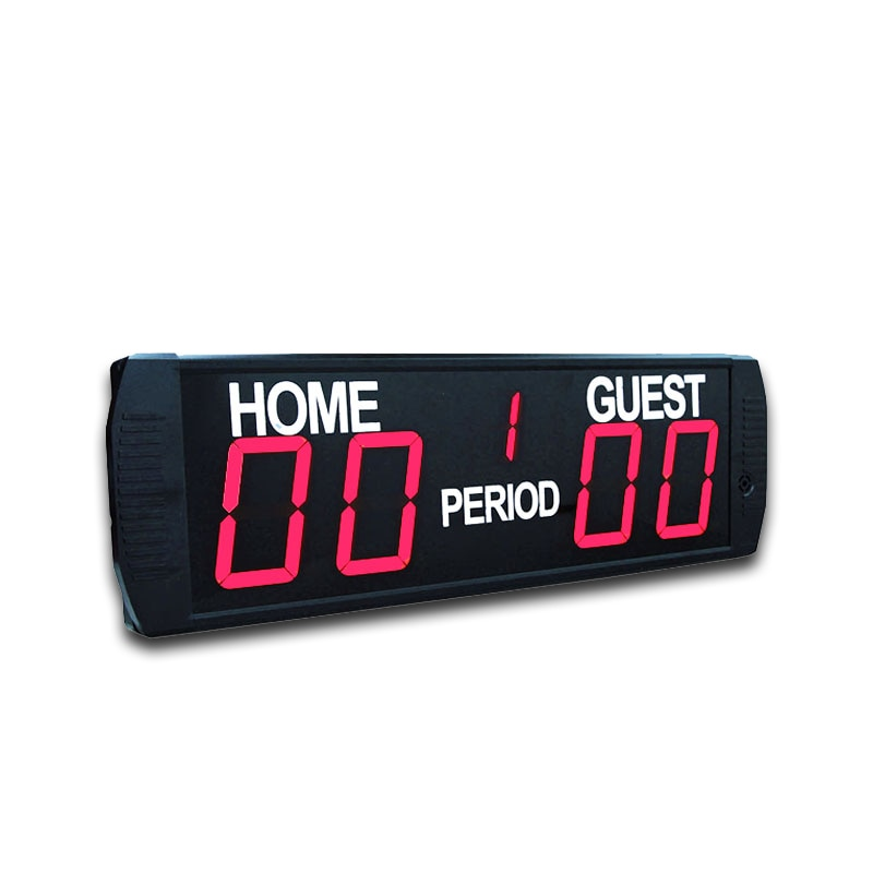 Marcador de fútbol electrónico Led digital portátil interior con soporte