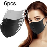 6pcs Reusable Washable and Breathable Outdoor Cchool Protective Equipment Reusable Mascarillas Adult New Fashion Mascarillas