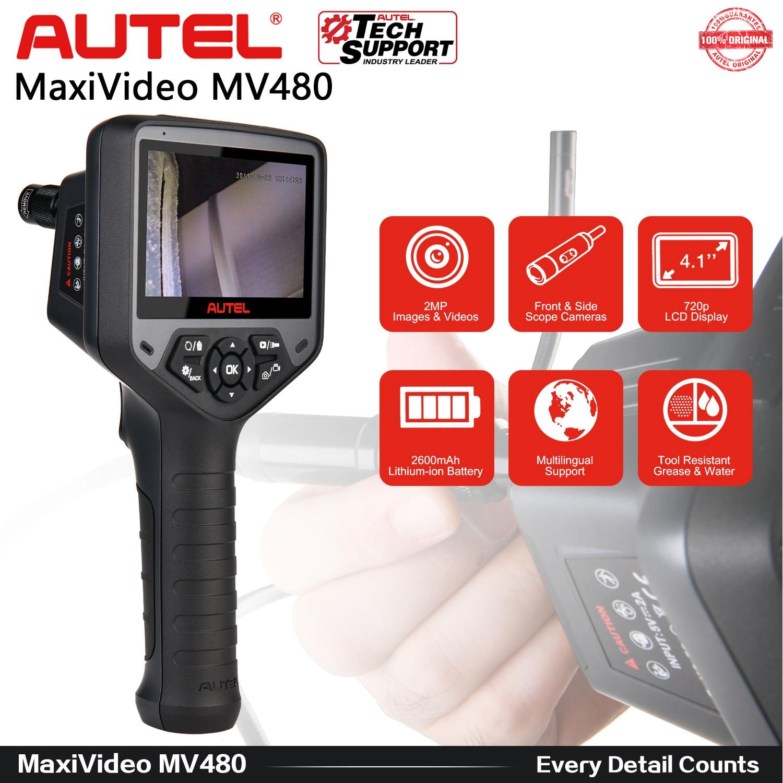 أتل ماكسيفيديو MV480 الصناعية المنظار/Borescope 1080P HD المزدوج عدسة 8.5 مللي متر مع 7X التكبير 2MP للسيارة/الجدار التفتيش كاميرا