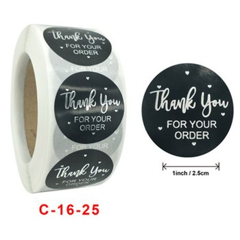 1 Inch - 500Pcs Roll Thank You Flower Stickers 10