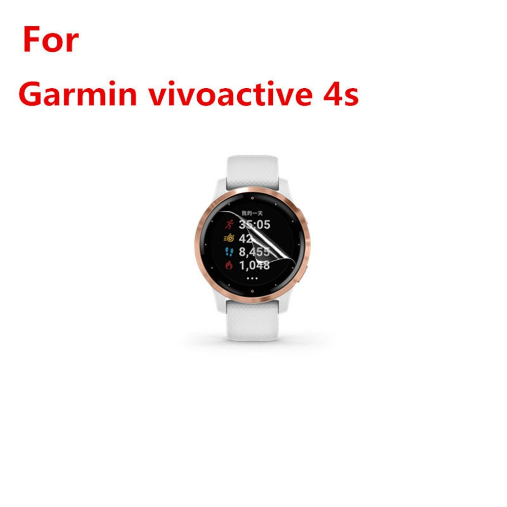 For GARMIN Vivoactive 4s Protective Film Sports Watch Accessories With Cleaning Kit