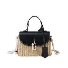 2021 Top Luxury Designer Brand Bags, High-quality Female Bags Small Straw Tote Bags for Women  Summe