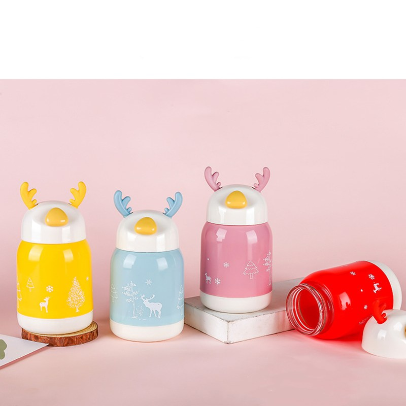 Christmas Cup Transparent Double Anti-Scalding Glass Tree Star Coffee Milk Juice Childrens Gift