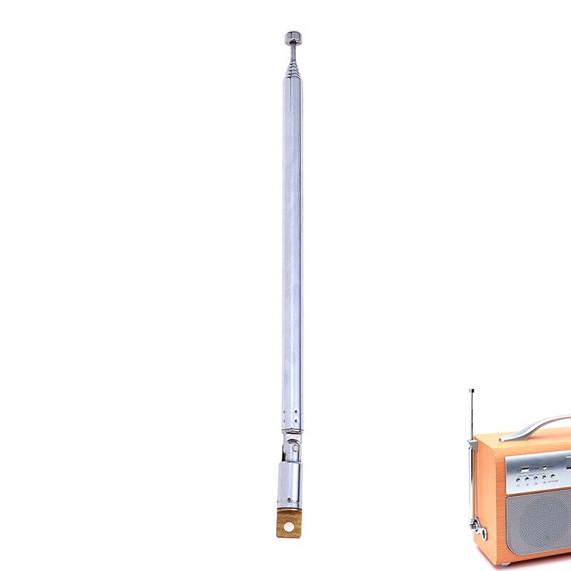 7 секций, телескопические антенны, радио, ТВ, Zilver, Uitgebreid, общая длина 765 мм