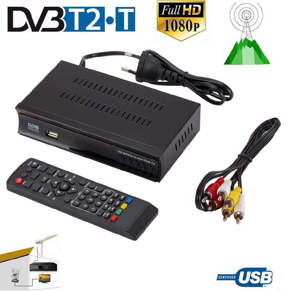 Kuulee receptor de Tv por satélite sintonizador Dvb T2 Wifi Usb2.0 Full-HD 1080P Dvb-t2 sintonizador de TV Box Dvbt2 incorporado Manual ruso antena