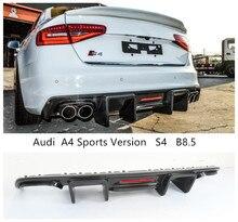 Für Audi A4 S4 B 8,5 Sport Version 2013 2014 2015 2016 Carbon Fiber Hinten Lip Spoiler Auto Diffusor Auto zubehör