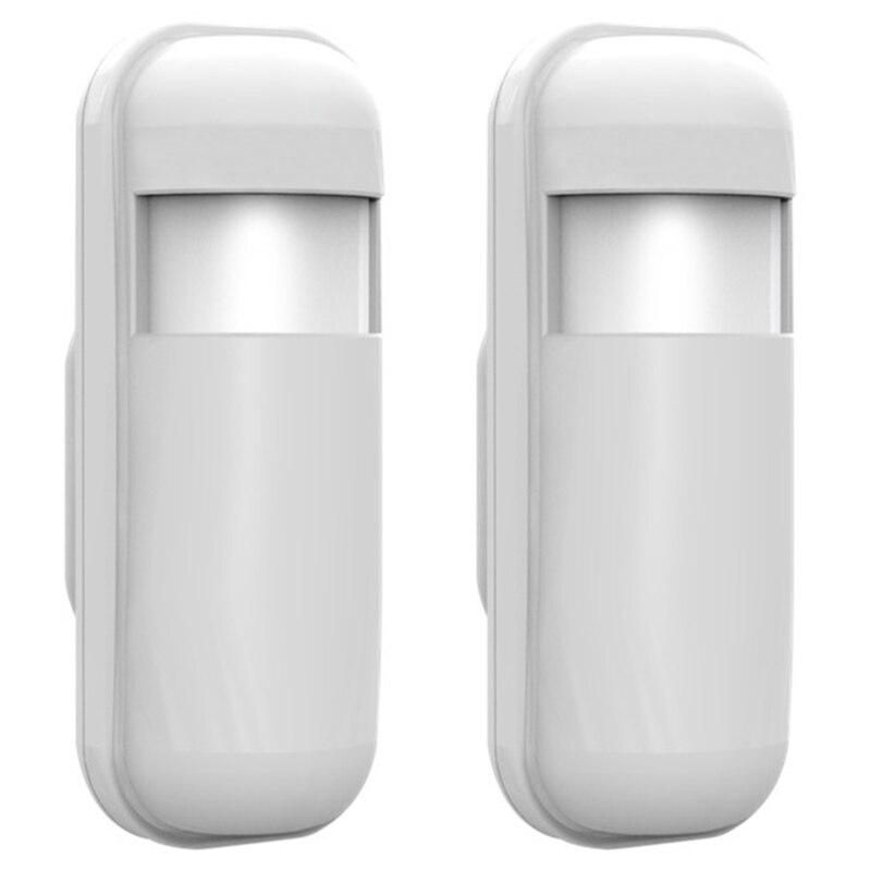 Minisensor de alarma de movimiento PIR inalámbrico, 2 uds., 433 Mhz EV1527, Sensor infrarrojo para sistema de alarma de casa