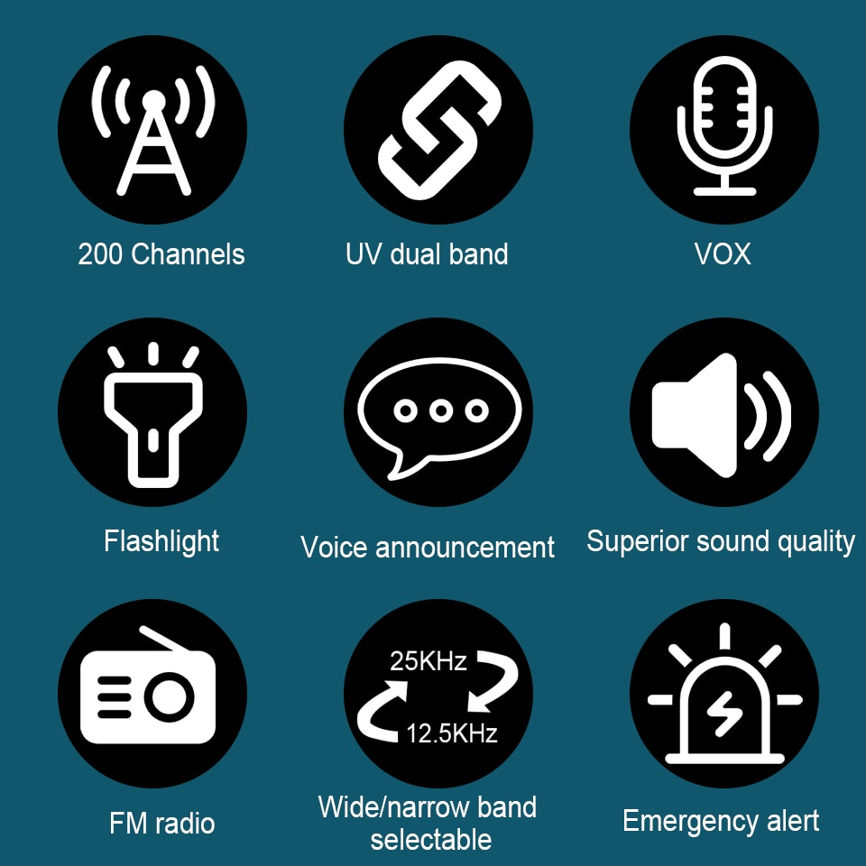 Retevis RT85 Analog Walkie Talkie UV Dual Band 5W Handheld Two Way Radio with Screen Keyboard VOX FM Radio Portable Transceiver enlarge