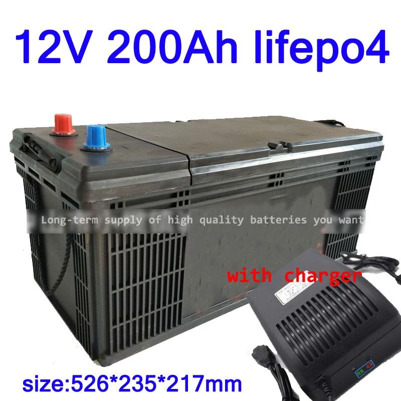 GTK Lifepo4 12V 200AH lithium battery BMS 4S 12.8V 300Ah deep cycle for 1800W inverter EV RV Solar energy storage +20A Charger enlarge