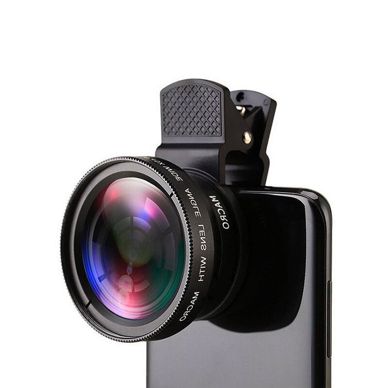 12X عدسة الهاتف المحمول أحادي تلسكوب طويل التركيز العدسات 0.45X زاوية واسعة عدسة عين سمكة دقيقة ل كاميرا رقمية الهواتف المحمولة