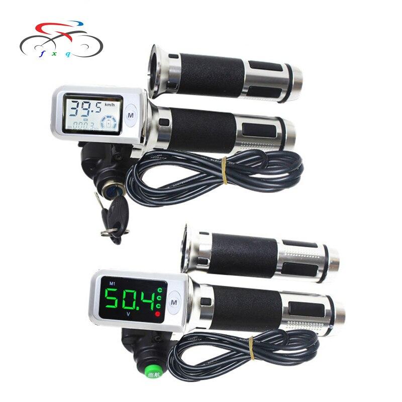 36V 48V 60V pantalla LCD impermeable velocímetro bicicleta eléctrica Digital giro acelerador salón velocidad mostrar Ebike tres velocidad kilometraje