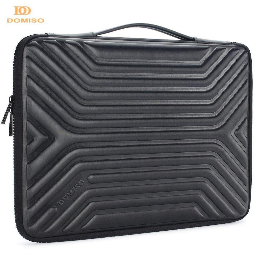 DOMISO 10 13 14 15.6 Inch Shockproof Waterproof Laptop Sleeve with Handle Lightweight Soft EVA Tablet Case for Laptops Black